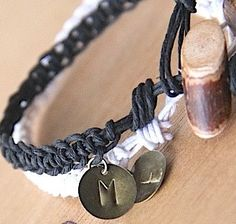 Romantic Valentine Gifts for Couples:  Customized Matching Couples Bracelets (set of 2) by Remember Zen @ Etsy