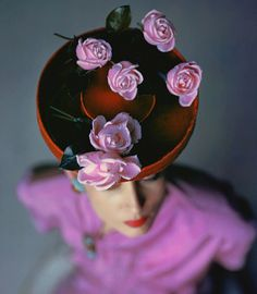 1940s Orchid Hat Fashion