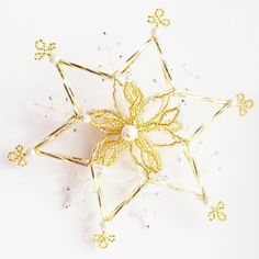 3D hvězda zlatá - velká