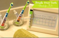 How to Make a Cute Printable Kids Chart for brushing teeth