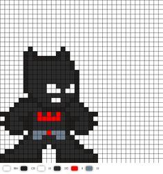 Batman Beyond DC Perler Bead Pattern