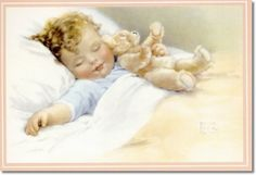 Bessie Pease Gutmann - The Time Has Come to Snuggle in and Hug Your Teddy Bear - And off You Go Together Now Sweet Dreams will Take You There