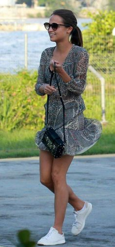 Cute Summer Outfits, Spring Outfits, Style Outfits, Fashion Outfits, Alicia Vikander Style, Teen Fashion, Spring Summer Fashion, Style Icons, Celebrity Style