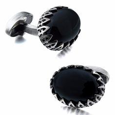 ONYXUS - pánske manžetové gombíky - osadené prírodným polodrahokamom: Ónyx Cufflinks, Accessories, Design, Fashion, Luxury, Moda, Fashion Styles, Wedding Cufflinks