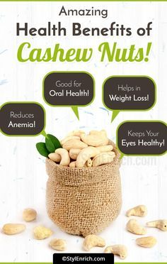 Cashewbenefitsforhealth Here Are Some Health Benefits Obtained By Consuming Cashew Nuts In An Adequate Por Cashews Benefits Smoothie Recipes Healthy Healthy