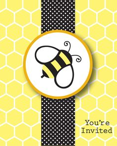 Bumble Bee Party Invitations.. I could totally make these :))