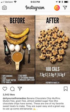Bake at 400 for 8 minutes Yum yum All I need is chocolate chips 🍪 Healthy Sweets, Healthy Baking, Recipes With Bananas Healthy, Healthy Food, Healthy Snack Recipes, Healthy Sweet Snacks, Healthy Filling Snacks, Fast Healthy Recipe, Leftover Banana Recipes