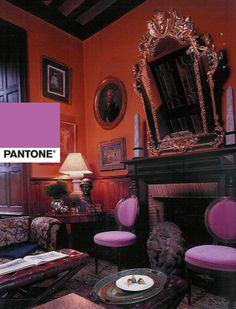 Radiant Orchid: Pantones color for 2014: we were ahead of the curve when we used this chair fabric for a project in France.