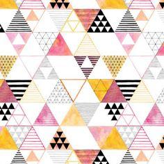 Triangle Print, Triangle Pattern, Fabric Patterns, Print Patterns, Design Patterns, Surface Pattern Design, Repeating Patterns, Fabric Design, Abstract