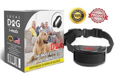Ideal Dog No Bark Collar - Adjustable Anti Bark Training Collar - Suitable For All Dog Breeds - Non-Harmful and Humane Static Stimulation - 7 Progressive Warning Levels - Black Color ** To view further, visit now : Collars for dogs