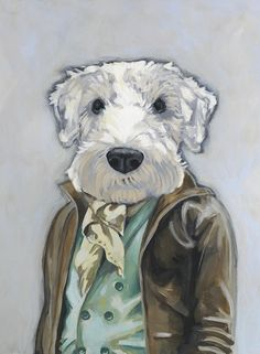 Theo - A Dog in Clothes - Fine Art Giclee Print