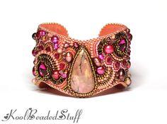 Charmed Blossoms  RESERVED Beautiful bead door koolbeadedstuff