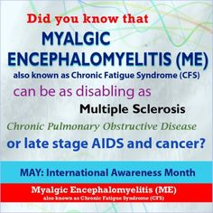 People need to realise just how bad it can be for ME/CFS sufferers, just because you can't see it doesn't mean it isn't there..