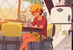 Why is Adrien Agreste in grunkle stans kitchen