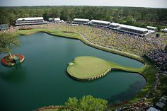 17th Hole at TPC Sawgrass The Most Famous Golf Hole in the World?        I seldom make bold statements in my articles so the reader has the opportunity to formulate his or her own opinion. Today, however, I feel strongly about this so I will come right out and say it. The 17th at TPC Sawgrass is the most recognizable golf hole in the world.   (The 17th hole at TPC Sawgrass in Ponte Vedra Beach, Florida)