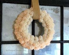 DIY Anthropologie Wool Pom Pom Wreath (with easy, diy wood-and-nail pom-pom maker!) :: An Oregon Cottage