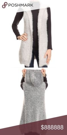 Plush hooded luxe super soft grey vest This vest is beyond!  Super soft and cozy and totally chic! Ships same or next day. PRICE FIRM unless bundled. Brand new with tags. Jackets & Coats Vests