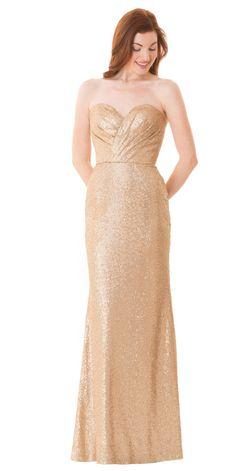 gold bridesmaid dress by Bari Jay