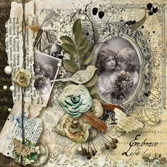 Embrace Life ~ Beautifully layered digi page using the Embrace Life collection. Links to products used.