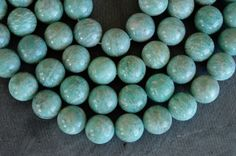 12mm Amazonite Beads, Stone Beads,  Smooth Round, Stone Beads, Aqua Amazonite Stone, 6 Beads, Aqua Stone Beads by TheBeadBandit on Etsy