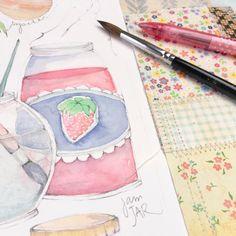 J is for jam. And jicama (awk to draw btw.) #creativepracticing #danielledonaldsonart #danielledonaldsonbooks
