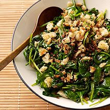 Spinach with Parmesan-Bread Crumbs (WW)