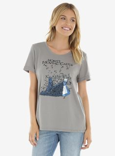 Her Universe Studio Ghibli Howl's Moving Castle Feathers Tee | BoxLunch http://www.boxlunch.com/product/her-universe-studio-ghibli-howls-moving-castle-feathers-tee/10707237.html?cgid=pop-culture-shop-by-license-studio-ghibli