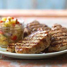 Greek Honey and Lemon Pork Chops Lemon, mint, pepper and honey provides an enticing sweet-sour balance to this pork chop recipe.