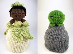 Princess Tiana topsy-turvy doll. Two dolls in one!