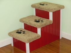 """18""""Tall Dog/Pet Stairs, Dog Steps! Pick any color to match your decor! Hand made, custom built in the USA."""