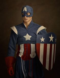 Character: Captain America (Steve Rogers) / From: MARVEL Comics 'Captain America' & 'The Avengers' / Cosplayer: Unknown