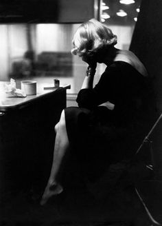 U.S. Marlene Dietrich at the recording studios of Columbia Records, who were releasing most of her songs she had performed for the troops during World War II, November 1952. // photo: eve arnold