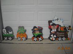 Wooden Yard Art Halloween