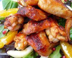Honey Garlic Chicken Wings Recipe  Serves 4  Ingredients: 4 lbs. chicken wings  1/2 cup honey  1/4 cup soy sauce  2 tablespoon ketchup  1 ...
