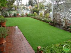 Artificial synthetic turf installed in front yard with white picket fence in Petaluma, California.