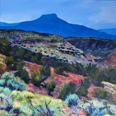 "My latest painting of the Pedernal in New Mexico.  ""Cerro Pedernal"" 10"" x 10"" acrylic on gallery wrapped canvas."