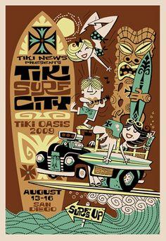 Derek Yaniger one of my favorit illustrator Tiki Oasis artwork