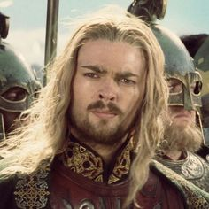 "Eomer Éadig - ""the Blessed"" ~ I love how he steps bout of the crowd and bows his head to Aragorn."