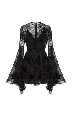 ALEX PERRY Buckley Flocked Silk Fitted Mini, Black Source by foolishandmagnificent outfits Edgy Outfits, Mode Outfits, Black Outfits, Dark Fashion, Gothic Fashion, Vestidos Emo, Alex Perry, Pretty Dresses, Frilly Dresses