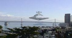 Star Destroyer over San Fransisco