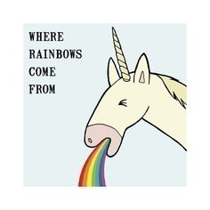 Items similar to 4x4 Print - Where Rainbows Come From on Etsy