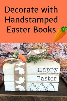 Stamped Books are a great accessory to any home. Use them for holidays or year round.