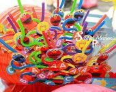 16 Elmo and Friends Twisty straws