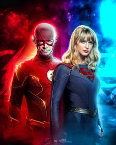 The Flash, Supergirl Dc, The Cw, My Friend, Collaboration, Dc Comics, Graphics, Superhero, Movie Posters