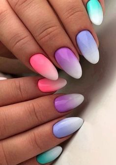 Make an original manicure for Valentine's Day - My Nails Fabulous Nails, Perfect Nails, Pretty Nail Art, Beautiful Nail Art, Cute Nails, My Nails, Nails Yellow, Happy Nails, Rainbow Nails