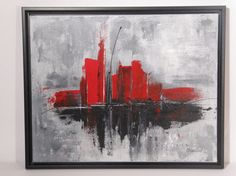 1000 images about projet abstrait on pinterest toile abstract and cityscapes for Peinture acrylique sur toile