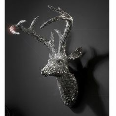 Crystal Sparkly Deer Head. OMG, I'm in love with it... paper machie and glitter??!!!! Would be so easy to make!