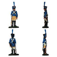 """Conductor - Tren de artillería - 1807 (Colección """"Soldados de las Guerras Napoleónicas"""" editada por delPrado - 60 mm)"""