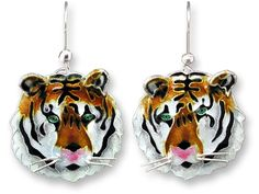 Zarah BENGAL TIGER HEAD (Item No. 29-13-01) - jewelry designed by artist Marilyn Grame