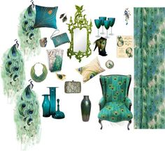 Peacock Living Room Decor | Trend  Peacock Dance | Living Room Decor